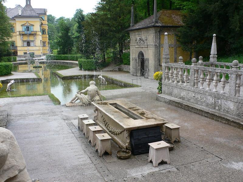 Trick Fountains at Schloss Hellbrunn, Salzburg