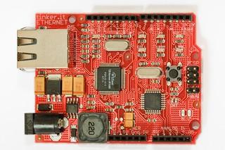 Official Arduino Ethernet preview board   by Matt Biddulph
