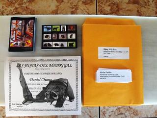 Certificates, postcards, envelopes and addresses