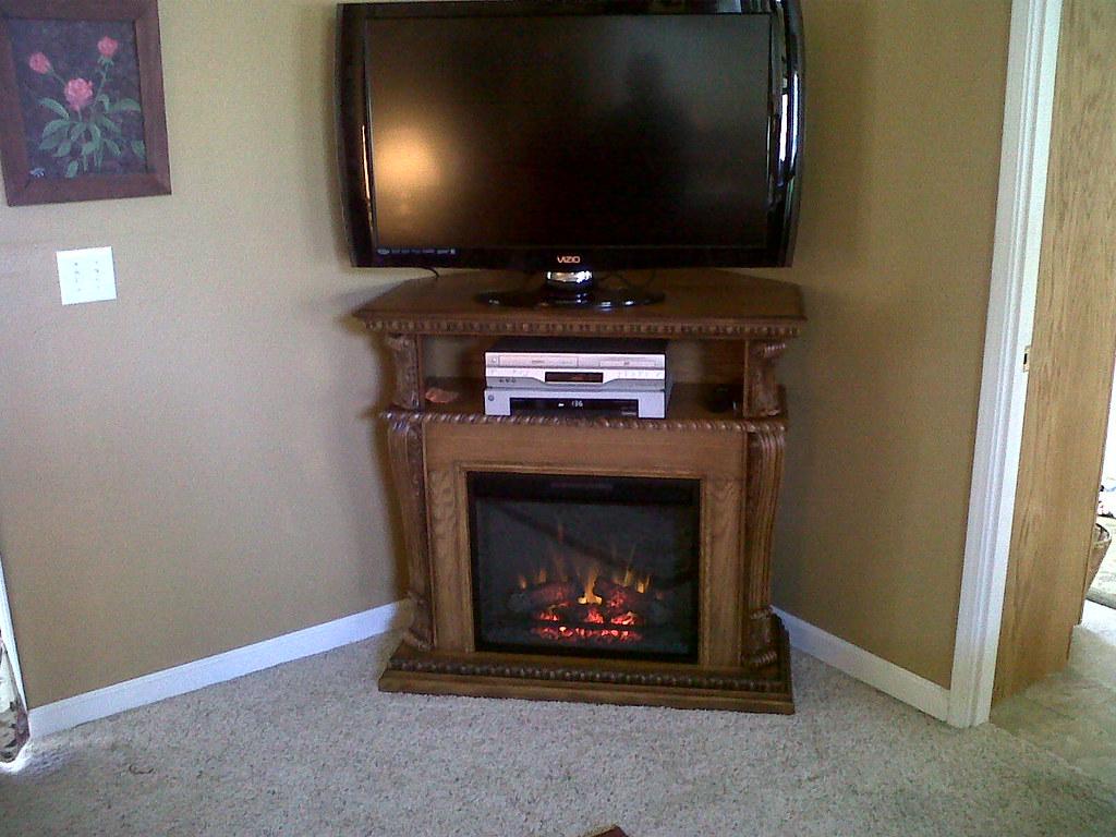 Corinth 23 Premium Oak Electric Fireplace Cabinet Corner Flickr