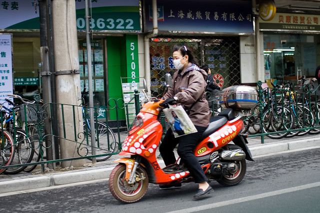Scootering Shanghai-style