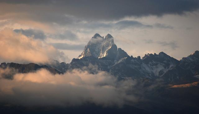 Evening light - Mount Kenya