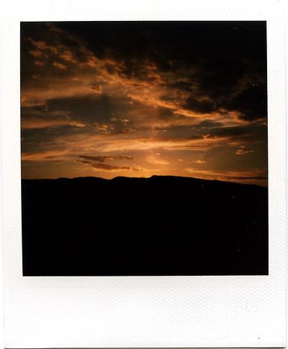 sunset newmexico film polaroid polaroid600 sandiapeak frommyyard slr690 roidweek2008 buticantuploadthisitsayslimitreached sighisitwithin24hoursthesameday