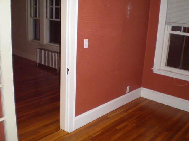 Refinished floors - same old wallpaper