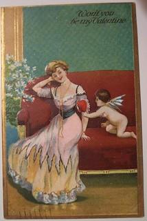 Vintage Valentine's Day Postcard | by riptheskull