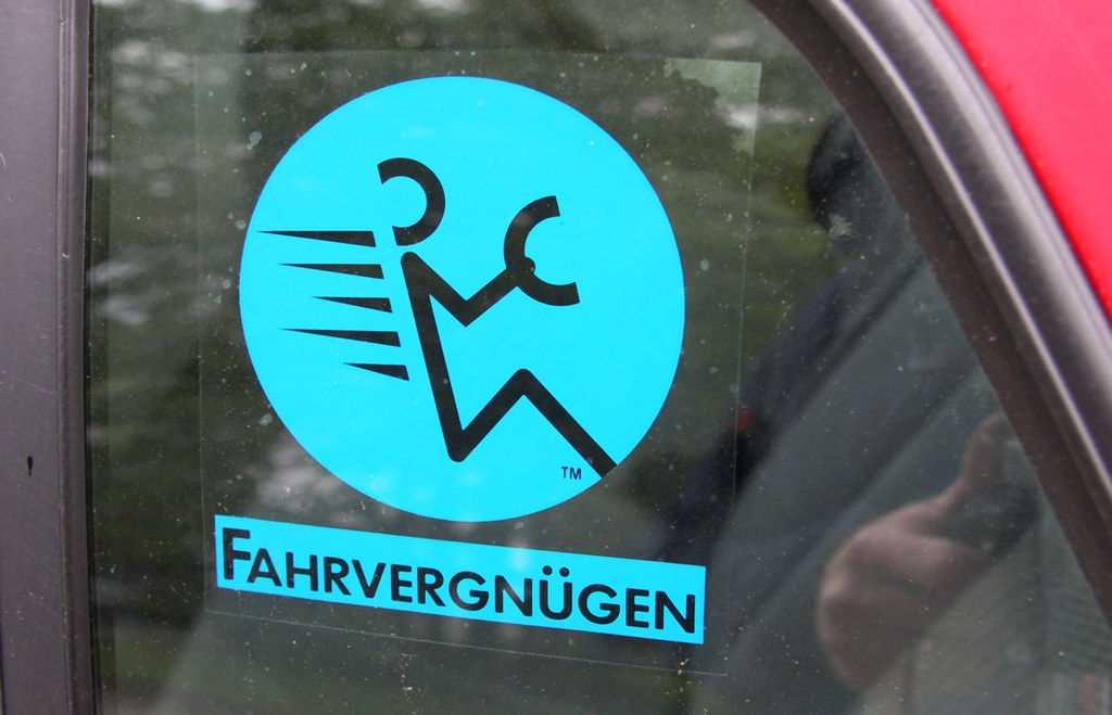 Fahrvergnugen An Old Sticker From A Vw Ad Campaign With Flickr