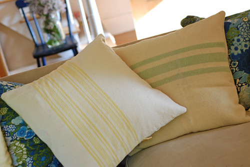 wool blanket pillows | by SouleMama