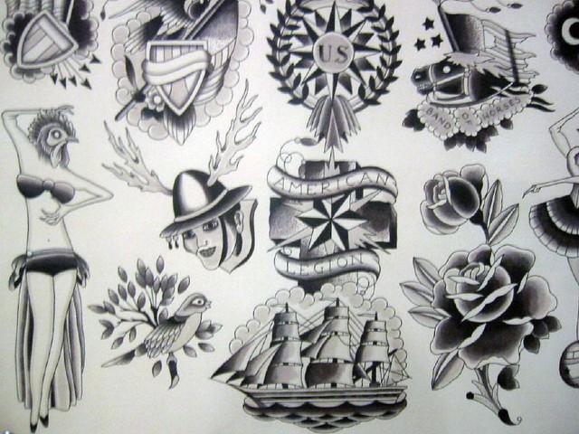 Biblical Flash Drawing Tattoo Art