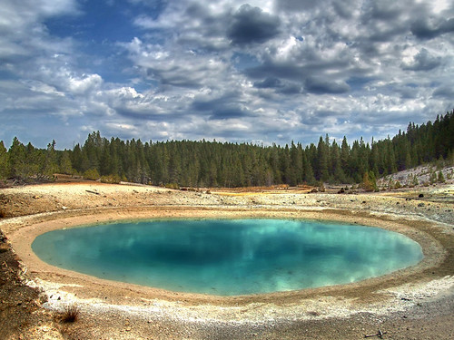 blue sky hot reflection tree nature topf25 water pool horizontal clouds digital landscape rockies outdoors photography volcano photo top20np nationalpark spring saturated topf50 flickr photos turquoise acid alien picture surreal nopeople 100v10f basin steam explore caldera heat online yellowstonenationalpark getty yellowstone rockymountains vulcan wyoming geology geyser sulfur bacteria spa opal geothermal thermal emerald digitalphoto hdr cloudscape norris scenics boiling digitalphotos hydrothermal lotse traveldestinations norrisgeyserbasin volcanism beautyinnature porcelainbasin physicalgeography photosonline thermophile congresspool photoonline lumatic