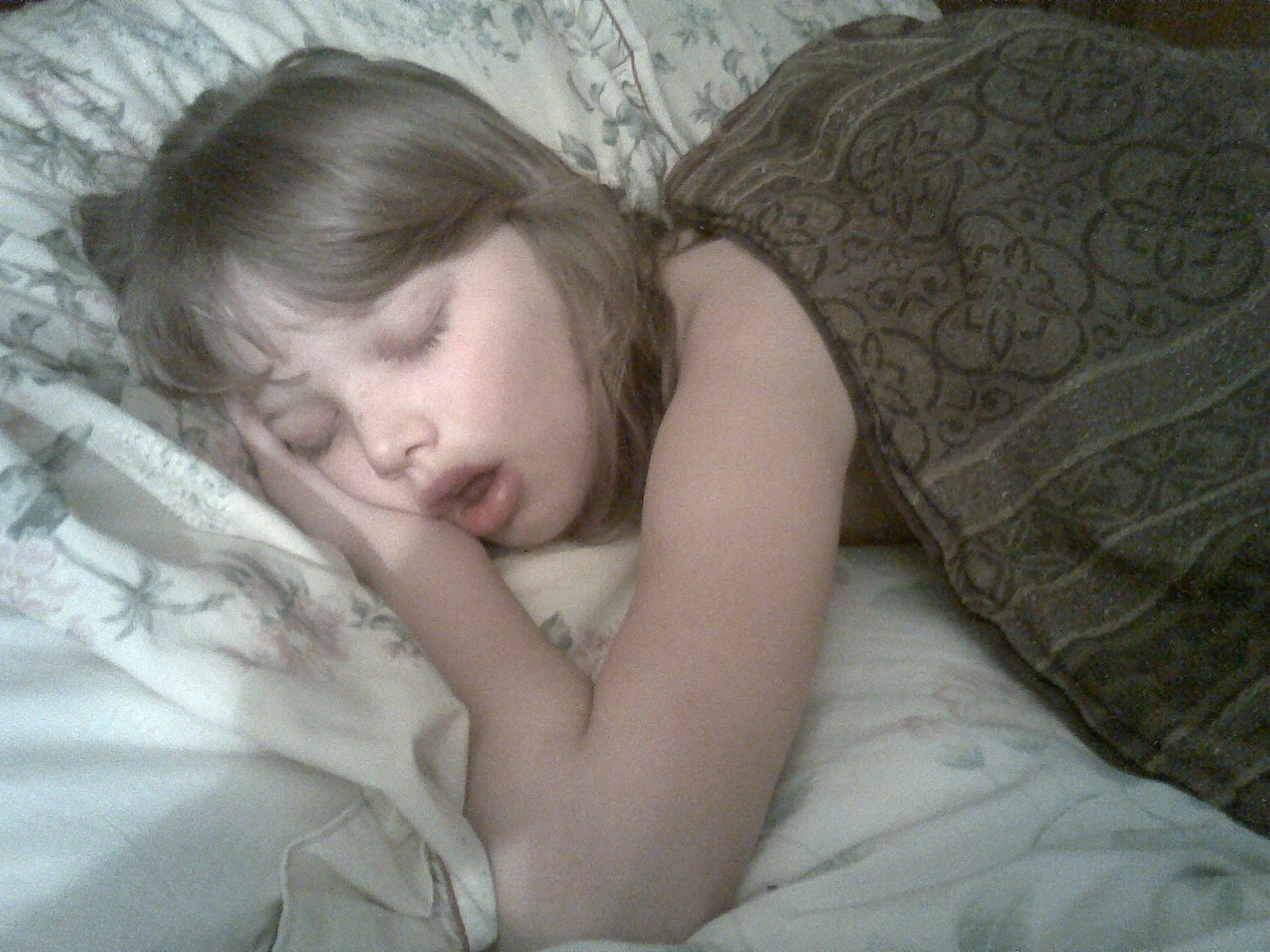 Gabby sleeping