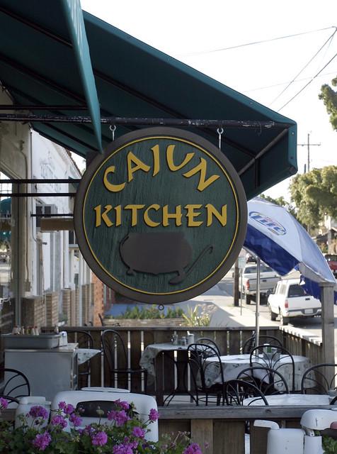 Cajun Kitchen Sign Cajun Kitchen On De La Vine In Santa Ba