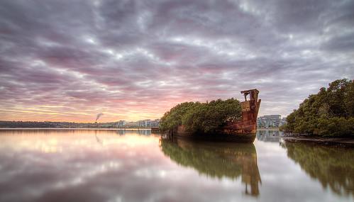 old sunrise bay shipwreck homebush auselite