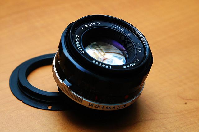 olympus f.zuiko auto-s 50mm f/1.8 (m42)