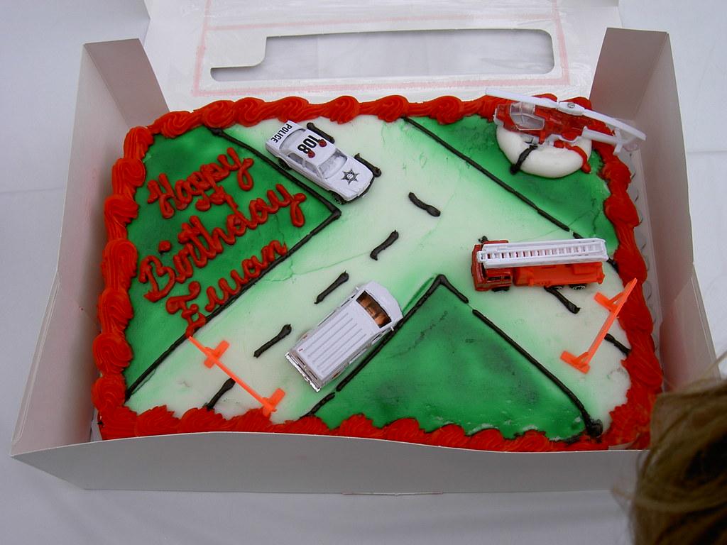 Tremendous Ewans Big 3 Year Old Birthday Cake Nick And Ewan Jones Flickr Funny Birthday Cards Online Overcheapnameinfo