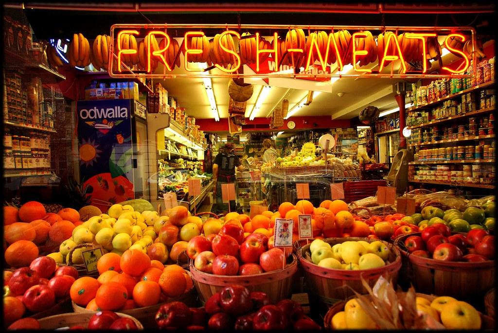 grocery window by jody9