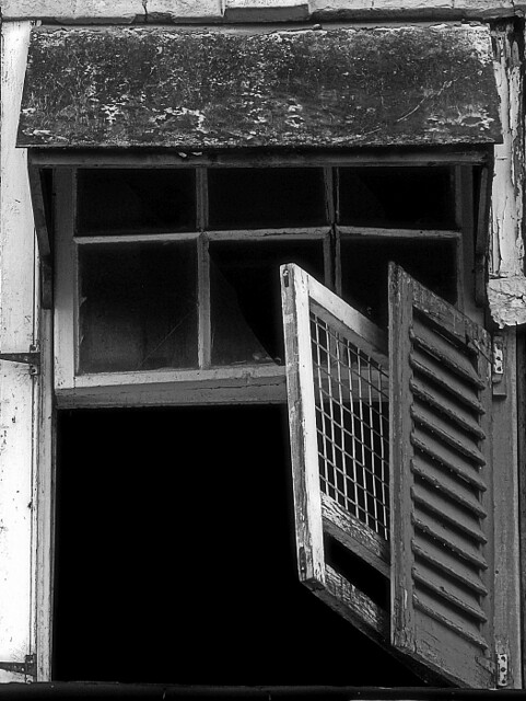 View of a Broken Window