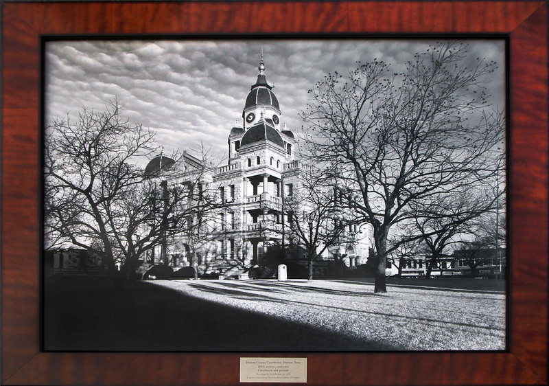 Seagrams Denton TX Courthouse framed