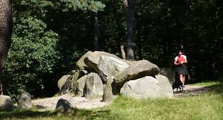 Nicole & Xena at the megalith