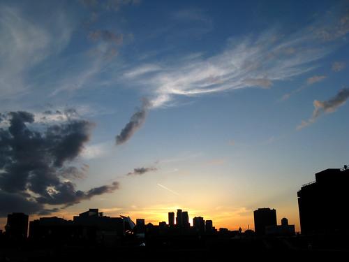 Sunset over Minneapolis
