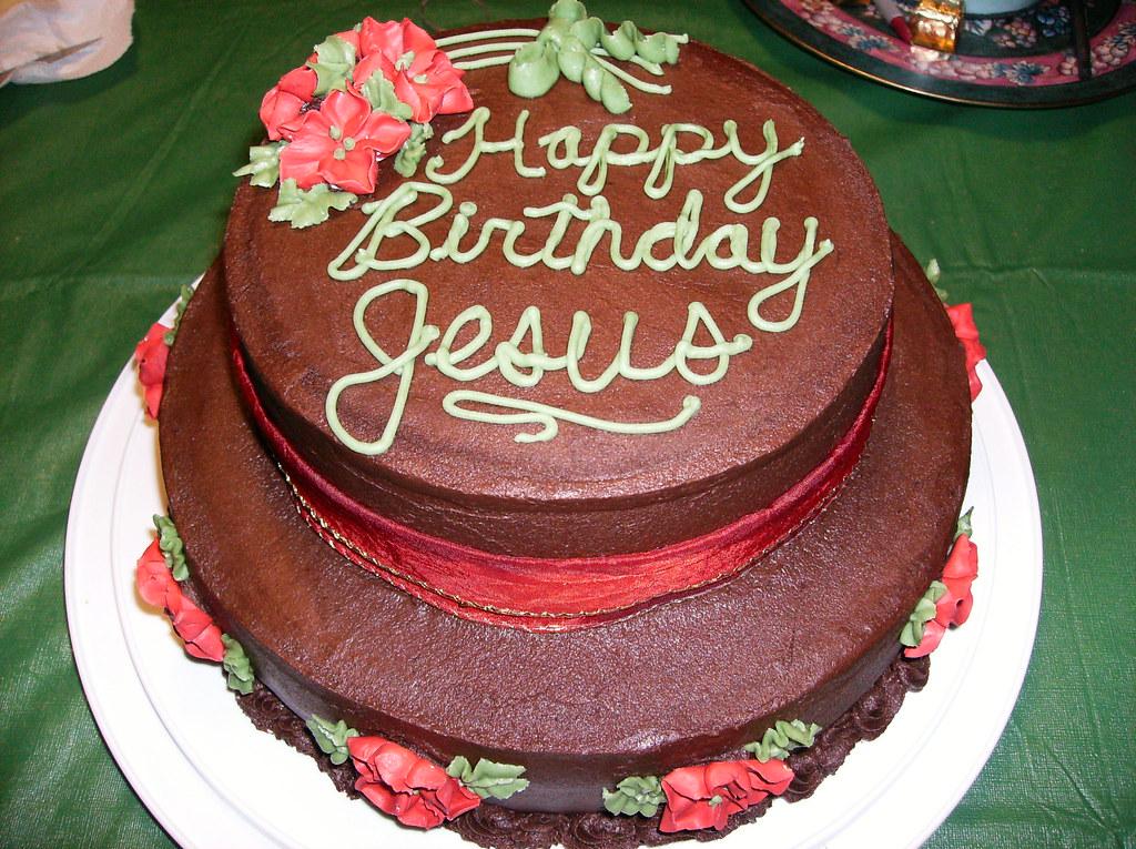 Sensational Happy Birthday Jesus Banana Chocolate Chip Cake Covered In Flickr Personalised Birthday Cards Akebfashionlily Jamesorg