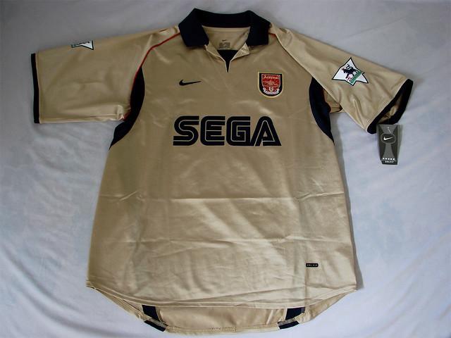 san francisco 1a2bf 54da5 Arsenal FC 01/02 Away Bergkamp Jersey | Arsenal FC 01/02 Awa ...