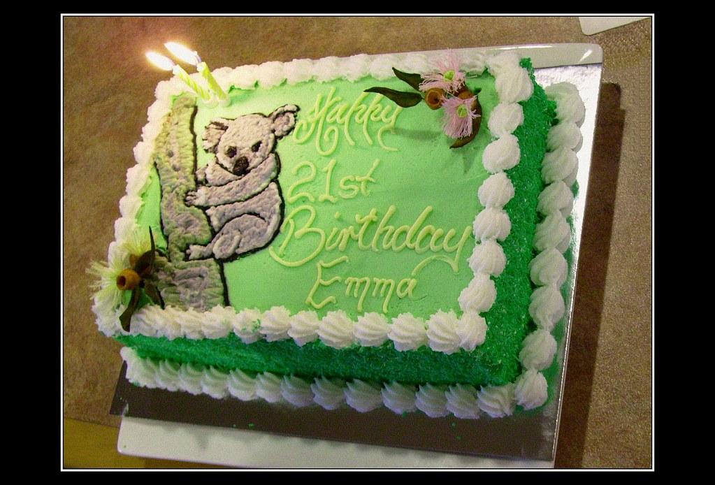 Remarkable Koala Cake We Celebrated My Birthday Yesterday Since It I Flickr Funny Birthday Cards Online Hetedamsfinfo