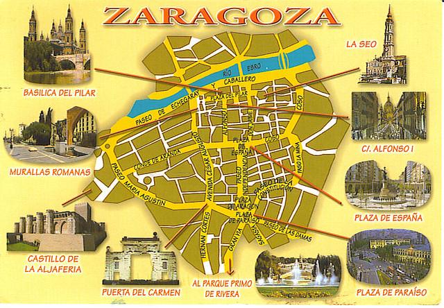 Zaragoza Map Of Spain.Spain Zaragoza Map Juliee3 Flickr