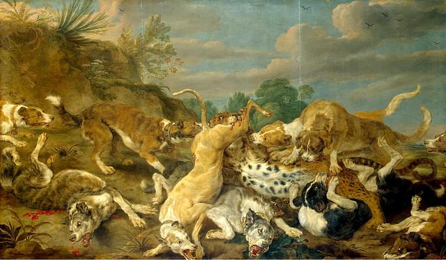 Paul de Vos - The Leopard hunt 1630's b