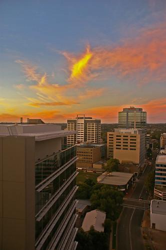 sunset balcony sydney australia nsw cirrus parramatta