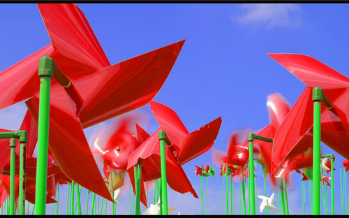 Red Pinwheels at the DMZ | by Daniel Gifford