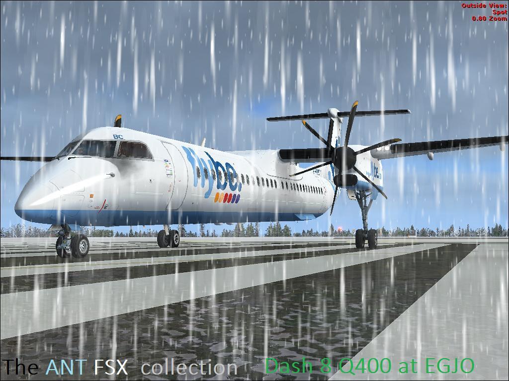 FSX Majestic Software Dash 8 Q400 Pro Edition FiyBe at EGJ