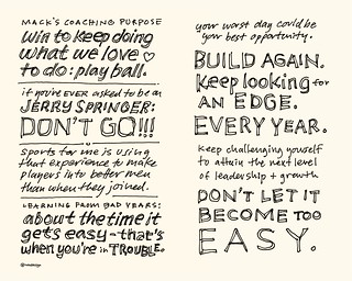 Chick-Fil-A Leadercast Sketchnotes 11-12 - Mack Brown | by Mike Rohde