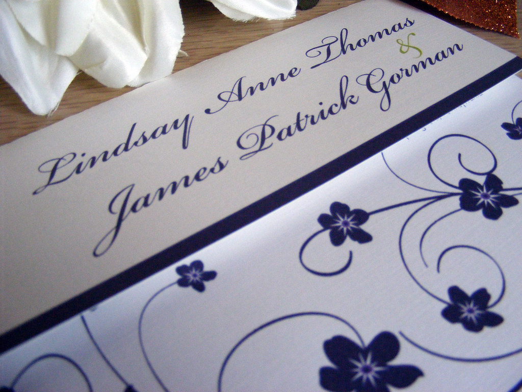 Forget Me Not Wedding Invitations: Purple Forget Me Nots Wedding Invites