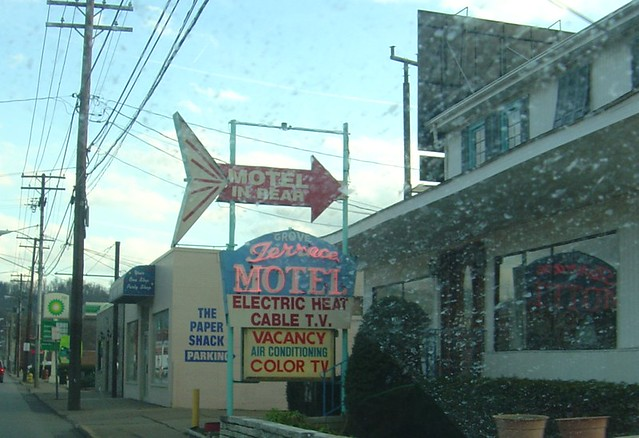 Motel Sign (other side) with Dirty Windshield