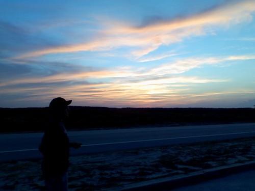 sunset beach twilight