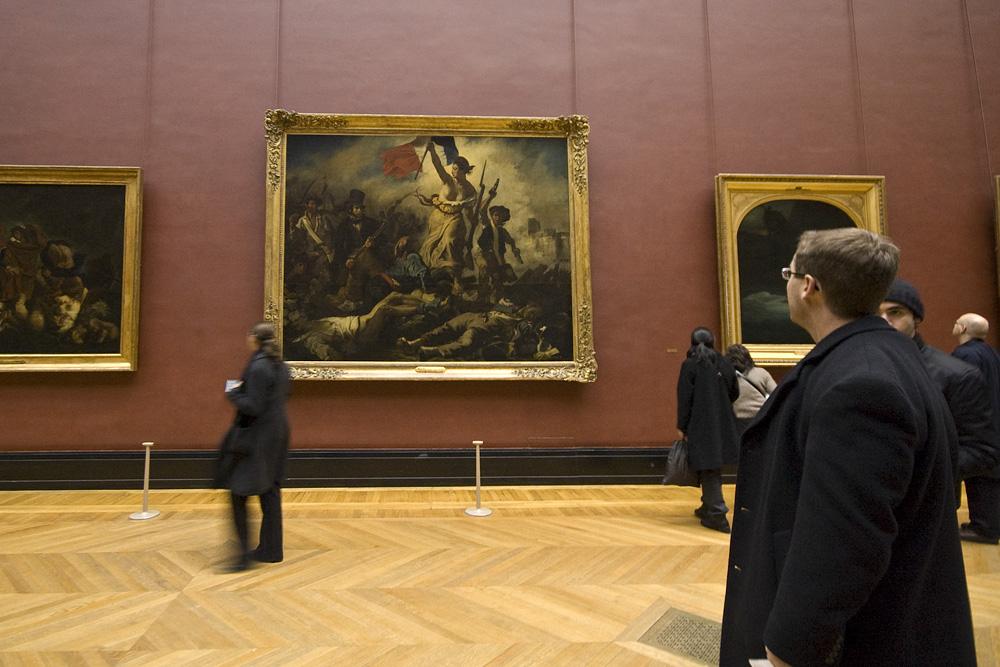 La Libertad guiando al pueblo por Eugene Delacroix