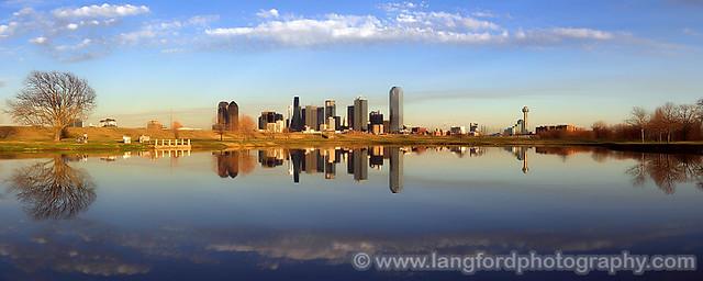 Dallas Skyline Reflection