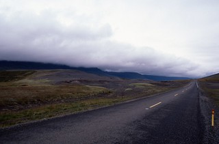 Road and weather front in parallel