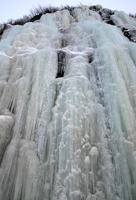 Frozen waterfall south of Anchorage, Alaska