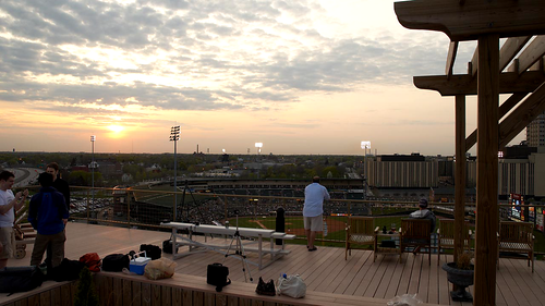 sunset rooftop timelapse twilight baseball dusk stadium rochester explore highdefinition hd flickrmeet redwings 720p hdvideo highdef
