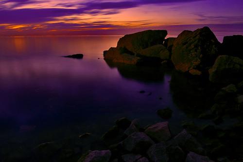park longexposure sunset 15fav orange lake ontario canada color water rock 510fav dark still rocks quiet purple niagara lincoln fv10 waterblur fv20 charlesdalypark