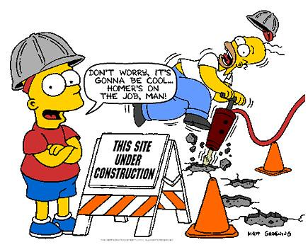 Under Construction with Bart and Homer Simpson, via web.mit.edu | by dullhunk