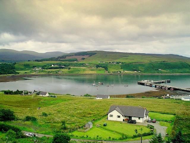 One Of Many Bays On The Isle Of Skye In Scotland