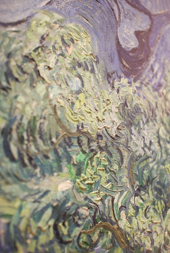 Van Gogh's brushwork.  (From the Museum of Modern Art.)