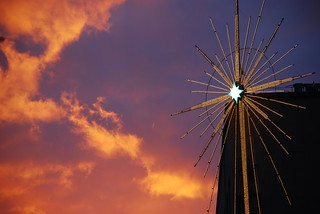 Macy's star at sunset | by James Callan