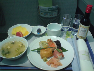 Dinner on Korean Air in business class | by mroach