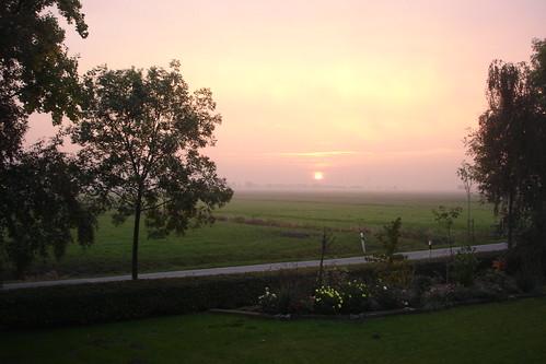 sunset leer ostfriesland eastfrisia