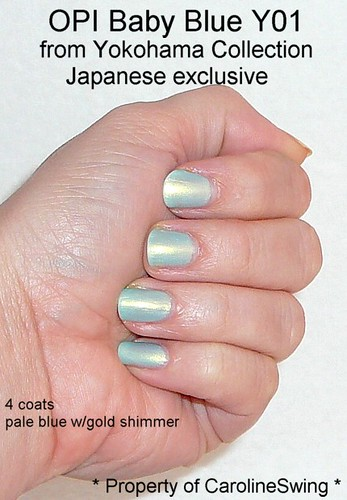 Opi Yokohama Baby Blue Nail Polish 2 Exclusive To Japan