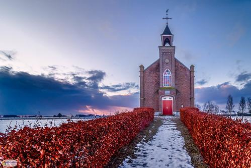 sneeuw thenetherlands kerk gelderland architecture europe overbetuwe homoet nederland church europa snow nl