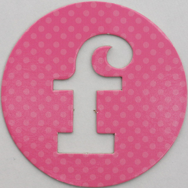 coloured card disc letter f